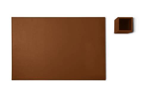 parure de bureau silver edition cognac cuir lisse