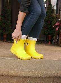 green drop earrings rainy day yellow boots delightfully kristi