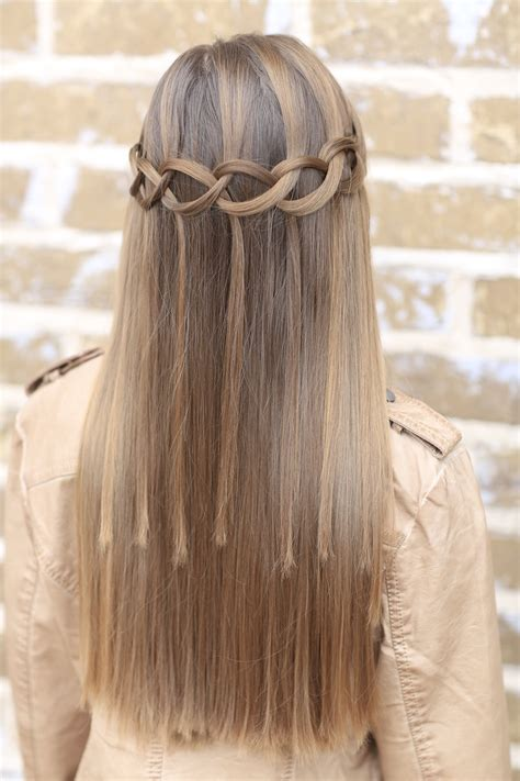 cute girls hairstyles waterfall braid how to create a loop waterfall braid cute girls hairstyles