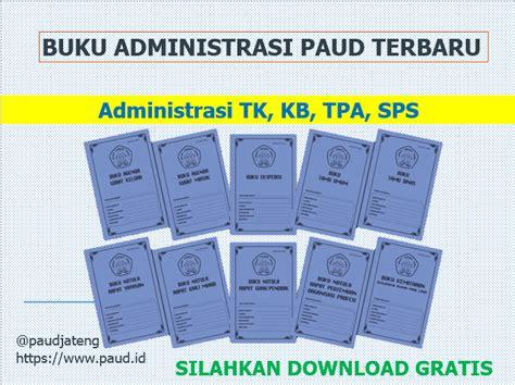 buku administrasi paud tk kb tpa sps gratis
