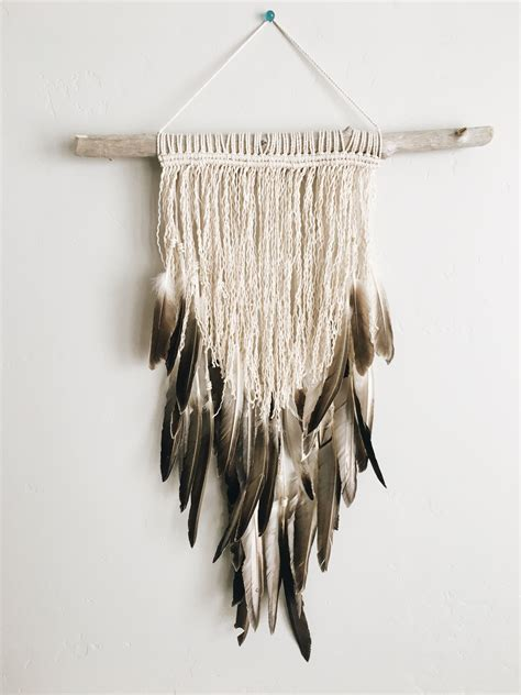 Find everything you need to organize your home, office and life, & the best of our umbra wall decor solutions at containerstore.com. Feather Wall Hanging by Bonfire Heart | Feather crafts diy, Feather crafts, Feather wall hanging