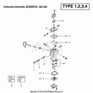 Poulan Featherlite Sst 25 Ho Gas Trimmer Type 1  25 Ho