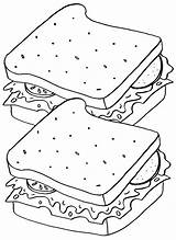 Sandwich Coloring Pages Sandwich2 sketch template