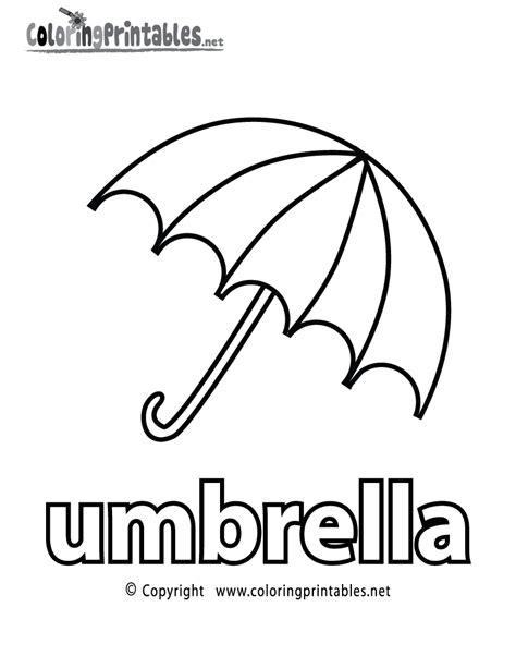 umbrella coloring page  preschoolers coloring pages