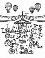 Circus Coloring Pages Printable Museprintables Train Carnival Sheets Themed Template Elephant Animals Theme Preschool Animal Paper Pdf sketch template