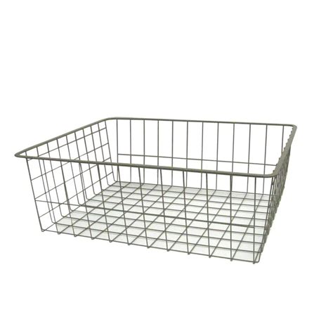 closetmaid wire basket closetmaid 8 in h nickel ventilated wire drawer 36209