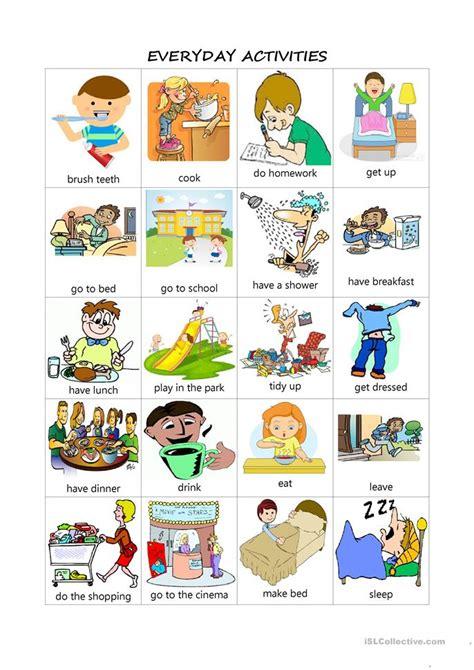 Everyday Activities Worksheet  Free Esl Printable Worksheets Made By Teachers