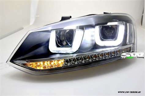 sw light headlights vw polo     led  tube