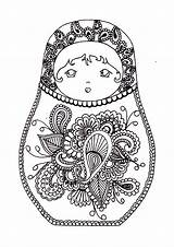 Coloring Russian Dolls Doll Printable Adults Russe Russia Coloriage Colouring Matryoshka Nesting Adult Mandala Babushka Template Noel Poupée Justcolor Inspired sketch template