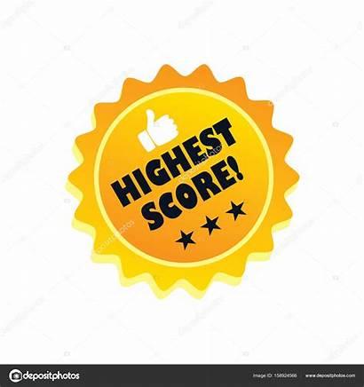 Score Icon Highest Flat Illustration Vector Depositphotos