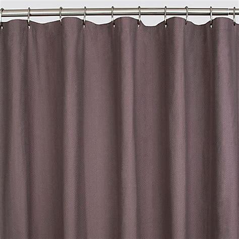 plum shower curtain herringbone shower curtain in plum bed bath beyond