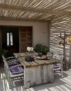 uberdachte terrasse 50 top ideen fur terrassenuberdachung With markise balkon mit versace tapete palmen