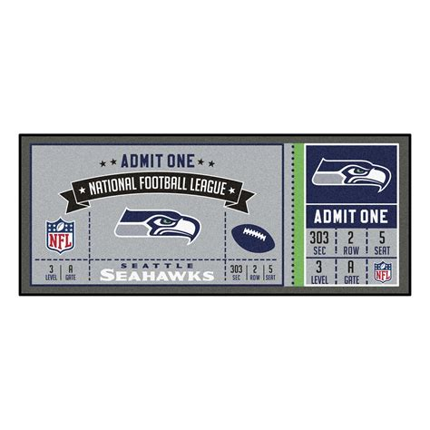 seattle seahawks ticket runner mat