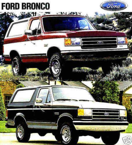 buy  ford bronco factory brochure xlt eddie bauer