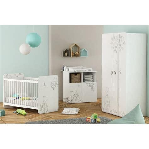 chambre de bébé pas cher chambre bébé complète 3 pièces lit bébé 60x120 cm