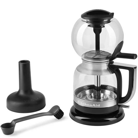 Though they have different when you look at a siphon coffee maker, it's kind of difficult to decipher how it functions but once you learn how to use it, you'll realize that it's very simple. KitchenAid R-KCM0812MS Siphon Glass Vacuum Coffee Maker Brewer Onyx Black | eBay