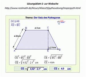 Grenzwert Berechnen Beispiele : der satz des pythagoras im gleichschenkligen trapez unterrichtsmaterial kostenfrei downloaden ~ Themetempest.com Abrechnung