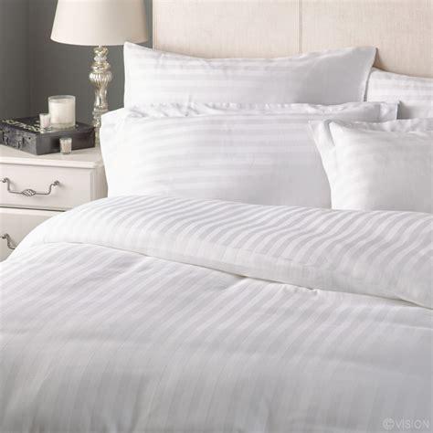 Superior Satin Stripe Bedding Duvet Cover  Cotton Rich