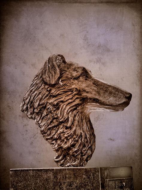 dog head  statue   head   dog  oregon gardens flickr