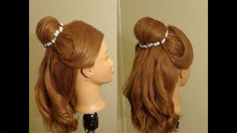 beauty  beast belles hairstyle youtube