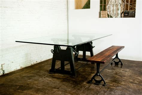 glass desk metal legs dining table designs with glass top with masculine