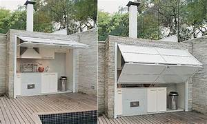 outdoor kitchen patio designs diy outdoor kitchen ideas With idee amenagement cuisine d ete