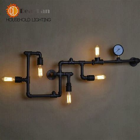 wholesale price water pipe wall l vintage lights loft