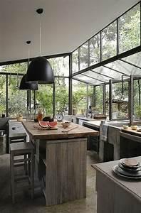 Cuisine En Bois Pas Cher : ilot cuisine bois massif ~ Premium-room.com Idées de Décoration