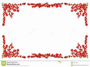 Christmas Border With Red Berries Royalty Free Stock Images Image: 22474259