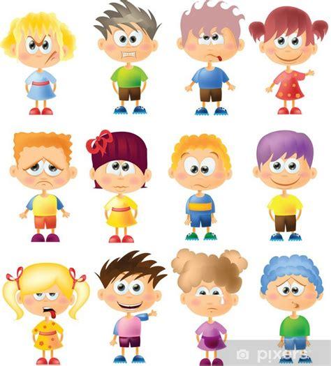 Fotomural Los niños lindos dibujos animados con diferentes ...