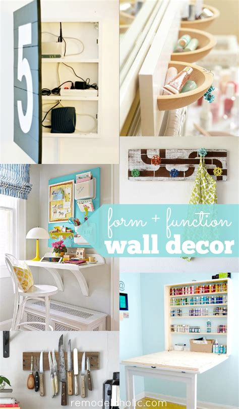 remodelaholic  functional wall decor ideas