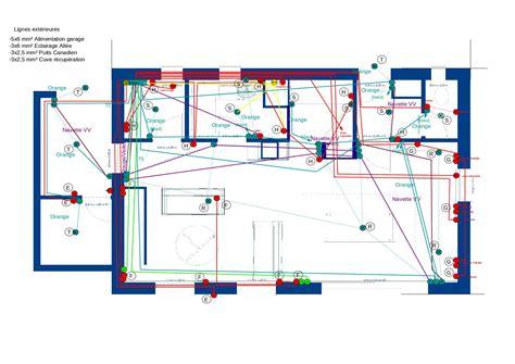 plan electrique chambre plans électriques d une maison maison poyaudine