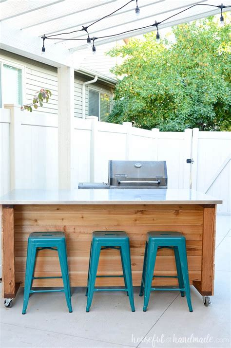 outdoor kitchen island build plans  houseful  handmade