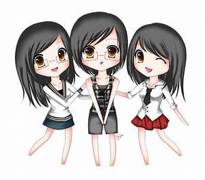 Anime Chibi Girl Friends | chibi best friends by ...