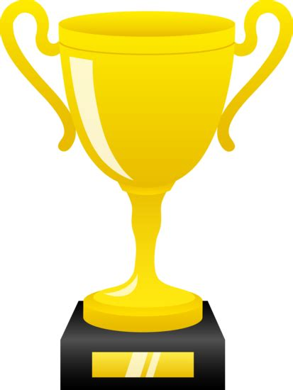 shiny golden trophy  clip art