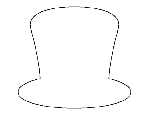 snowman hat template mad hatter hat patterns snowman hat outline template imgarcade