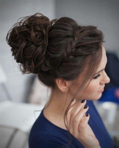 chignon cheveux mi pour mariage coiffure en image
