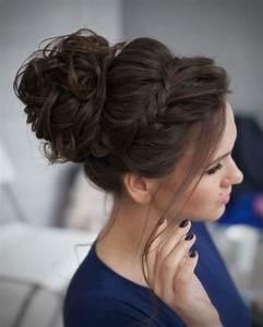 Chignon Cheveux Mi Long : chignon cheveux mi long pour mariage coiffure en image ~ Melissatoandfro.com Idées de Décoration