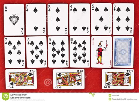 classic playing cards spades stock images image
