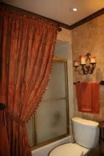 bathroom shower curtain decorating ideas tuscany shower curtain world styled bathroom bathroom designs decorating ideas hgtv