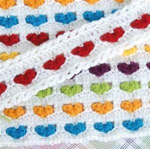 Hearts Baby Crochet Blanket DIY