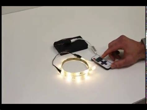 Battery Powered Led Light Strip by Battery Operated Flexible Led Light Strip Youtube