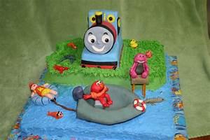 Thomas,barney, And Elmo Visit The Bayou - CakeCentral com