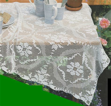 crochet filet nappe carree oeillets tutoriel gratuit le