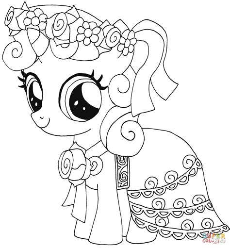 pony sweetie belle coloring page
