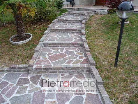 cordoli in pietra per giardini binderi cordoli blocchetti in porfido lati tranciato per
