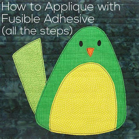 tutorial applique how to applique with fusible adhesive shiny