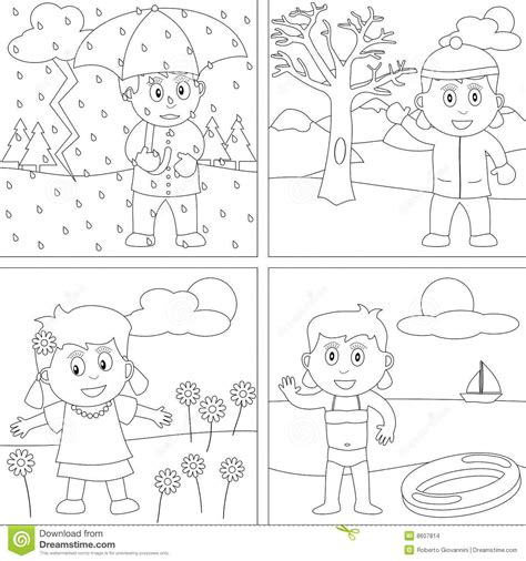 printable seasons coloring pictures  seasons coloring pages pinterest