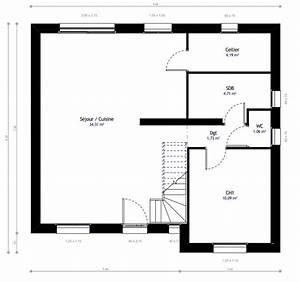 Plan maison individuelle 3 chambres 05 Habitat Concept