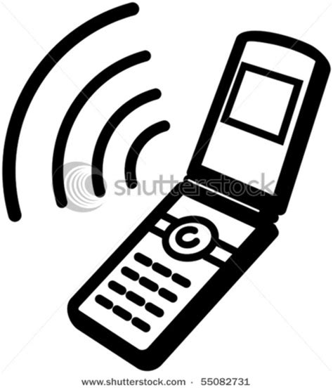 flip phone clipart black and white clip image of a ringing cell phone in a vector clip